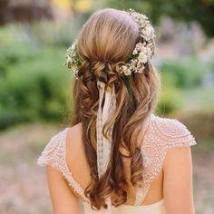 Romántica y campera - Peinados de novias de primavera - TELVA.com