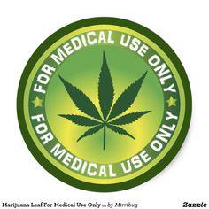 Marijuana Leaf For Medical Use Only Logo