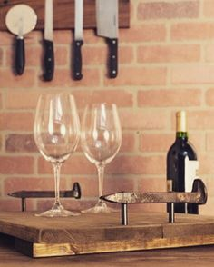 Every #Home needs a little bit of #GrainAndForge Decor! Shop now at www.grainandforge.com!    #GrainAndForgeCollection #WoodenDecor #WalnutWood #FineWood #Handcrafted #Handmade #MadeInUSA #Decor #HomeDecor #UrbanDecor #IndustrialDecor #ContemporaryDecor #Foodies #Wine #ServingTray #Foodie #FoodieProblems #HomeCook #Cooking #ChefKnife