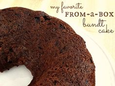 bundt cake yummy!  I did 1 1/3 c half and half, 2/3 c butter, and 4 eggs, with the cake mix pudding and choco chips!
