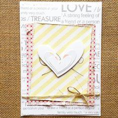 Tarjeta de la mano de Mrs Diaz #scrapbooking #cardmaking #card Strong Feelings, Love, Mothers, Cards, Amor