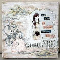 Mixed Media She Art canvas by me