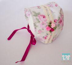 Touca Rosa | Sakura Newborn | Elo7