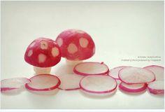 Lovely mushrooms from radish