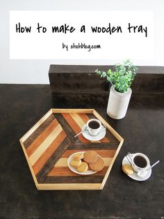 The best DIY projects & DIY ideas and tutorials: sewing, paper craft, DIY. Best Diy Crafts Ideas For Your Home DIY Serving Tray -Read Wood Crafts, Diy Crafts, Coffee Tray, Coffee Tables, Diy Inspiration, Diy Cutting Board, Wood Tray, Best Dining, Deco Table