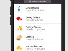 Foodzy List UI for iPhone 6