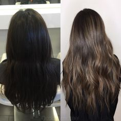 """""""Black box dye correction to an ash tone balayage highlight... Very happy with the results for a first session! @colorbymichael"""