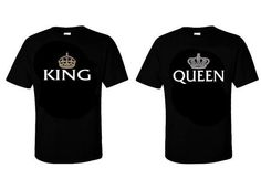 BEST KING QUEEN COUPLE T-SHIRTS in T-Shirts | eBay