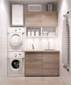 Modern laundry room ideas for small spaces minimalist home design, modern minimalist house, small Laundry Room Storage, Laundry Room Design, Kitchen Storage, Bathroom Organization, Makeup Organization, Storage Organization, Ikea Laundry Room, Design Room, Bath Design