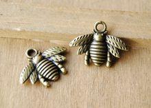 50 шт антикварный бронза Bee подвески-талисманы кулон своими руками металл браслет ожерелье ювелирные изделия выводы A194(China (Mainland))