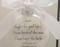 """In Memory Ornament """"Never Forgotten Always Remembered Forever Loved"""" Custom Memorial Remembrance Feather Filled Ornament Ball Cancer Ribbon In Memory Christmas Ornaments, Memorial Ornaments, Always Remember, Never Forget, Fight The Good Fight, Keep The Faith, Paper Roses, Perfume Bottles, Delicate"""