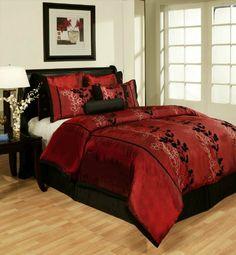 50 Best Black and Red Comforter Set images  bc36ba6cb