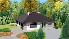 DOM.PL™ - Projekt domu Dom przy Słonecznej 2 CE - DOM EB2-49 - gotowy koszt budowy Modern House Facades, Cottage Style House Plans, Facade House, Future House, Gazebo, Sweet Home, Shed, Outdoor Structures, House Design