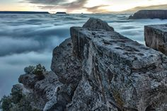 Rare Temperature Inversion Creates River of Clouds Inside the Grand Canyon
