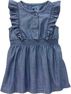 Flutter-Sleeve Chambray Dresses for Baby | Old Navy