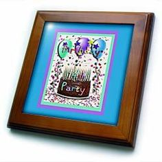 """14th Birthday Party Invitation Chocolate Cake - 8x8 Framed Tile by Beverly Turner Photography. $22.99. Solid wood frame. Cherry Finish. Inset high gloss 6"""" x 6"""" ceramic tile.. Keyhole in the back of frame allows for easy hanging.. Dimensions: 8"""" H x 8"""" W x 1/2"""" D. 14th Birthday Party Invitation Chocolate Cake Framed Tile is 8"""" x 8"""" with a 6"""" x 6"""" high gloss inset ceramic tile, surrounded by a solid wood frame with predrilled keyhole for easy wall mounting.. Save 15% Off!"""