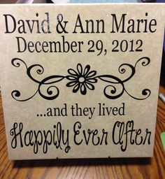 HOME DECOR--Ceramic 12x12 Tile--PERSONALIZED on Etsy, $18.00