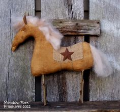 Folk Art horse. Contact for price and ordering information. Folk art by Meadow Fork Primitives