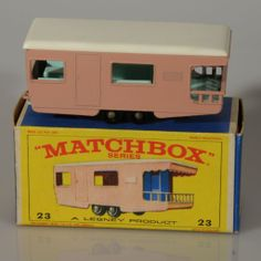 Matchbox Caravan Trailer, 1965 - I had this one. Metal Toys, Tin Toys, Antique Toys, Vintage Toys, Corgi Toys, Matchbox Cars, Hot Wheels Cars, Vintage Trailers, Toy Trucks