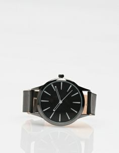 Cold Picnic Colorblock Leather Watch