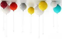 balloon (ceiling or wall) lamps for kids room or baby nursery #children #design #lighting