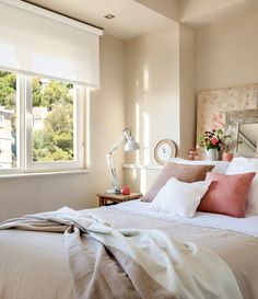Dormitorio Cabecero-repisa cama