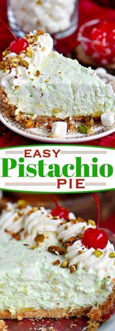 This easy Pistachio Pie recipe is a going to be hit with friends and family this holiday season! Extra creamy and completely irresisitble, this no bake pie recipe takes just minutes to prepare! Make sure to add it to your menu this year! // Mom On Timeout #pie #recipe #nobake #dessert #pistachio #creamcheese #holiday #Christmas #momontimeout #SharetheSunshine #ad