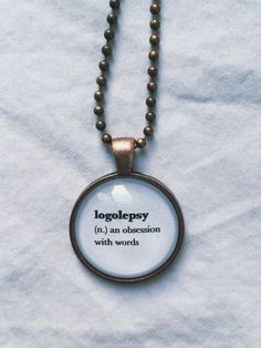 Writer Necklace Writer Gift Writer Jewelry Book by PoesyRoss
