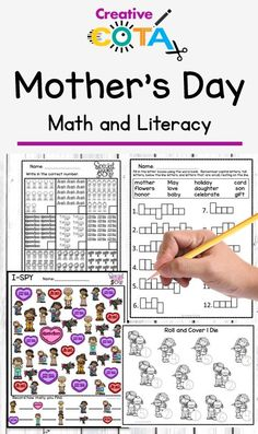Mother's Day Writing and Math Centers Differentiated Activities and Worksheets Special Education Classroom, Math Classroom, Classroom Themes, Classroom Activities, Math Literacy, Mother's Day Activities, Movement Activities, Holiday Activities, Activity Centers