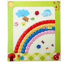 button rainbow craft