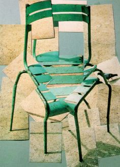david hockney - une chaise, jardin du Luxembourg 1985                                                                                                                                                      Plus