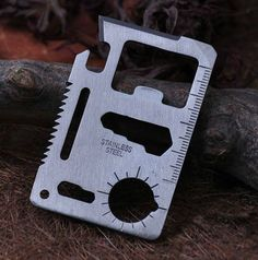 Stainless Steel Survival Credit Card Tool