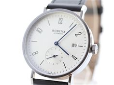 Classic Rodina R005GB Automatic Wrist Watch OEM by Sea-Gull ST1731 Movement Bauhaus Style Watch  Date + Independent Second Hand