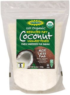 Let's Do Organic Reduced Fat Shredded Coconut, 8.8 ounce pouches (Pack of 12) Let's Do Organic,http://www.amazon.com/dp/B000F4D5I0/ref=cm_sw_r_pi_dp_WFfzsb0HKNV6APE2