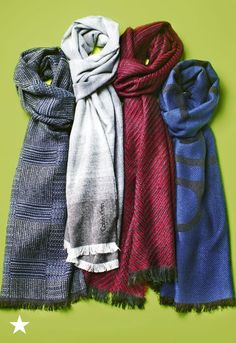 A winter closet staple, you can't go wrong with the Calvin Klein Patchwork scarf for the modern man. Shop now at Macy's!