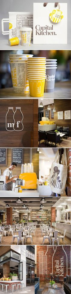 VI/packaging/branding/graphic design #CapitalKitchen #cafe