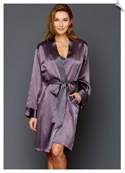"""Julianna Rae Simplicity Silk Robe 