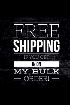If you place your order directly with ME, I will pay your shipping (for LOCALS only!)