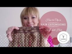 How To Install Clip On Hair Extension in Short Hair :: Tressmerize these look awesome, it is so hard to blend extensions in short hair