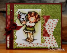 Tilda with Christmas Puppy from Magnolia stamps.