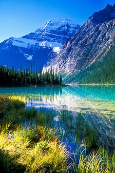 Mount Edith Cavell, Jasper National Park, Canada.