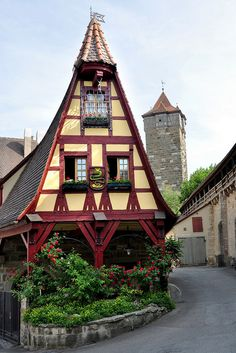 """The Gerlach blacksmith's shop, or """"old forge,"""" Rothenburg, Germany"""