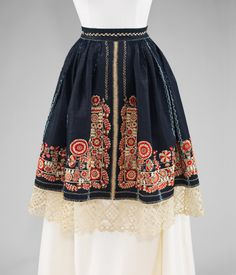 Apron Date: fourth quarter 19th century Culture: Czech Medium: cotton, wool, silk