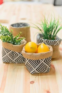 Discover recipes, home ideas, style inspiration and other ideas to try. Plant Bags, Plant Basket, Fabric Placemats, Burlap Fabric, Dollar Store Crafts, Diy Crafts To Sell, Hessian Bags, Burlap Crafts, Bag Storage