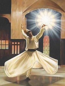 Did you know that Rumi most often recited his poetry while spinning around a column?