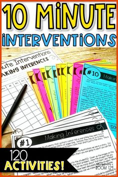 Need to help your struggling readers with reading comprehension? My 10 minute interventions are the perfect way to progress monitor your students! The resource includes lesson plans, activities, and materials for the teacher. Tons of fresh ideas Reading Comprehension Skills, Comprehension Activities, Reading Fluency, Reading Intervention, Reading Strategies, Reading Skills, Teaching Reading, Guided Reading, Reading Motivation