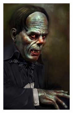 Universal Classic Monsters Art : The Phantom Of The Opera 1925 by Rob Birchfield Lon Chaney Classic Monster Movies, Classic Horror Movies, Classic Monsters, Monster Squad, Monster Art, Horror Icons, Horror Movie Posters, Horror Films, Halloween Horror