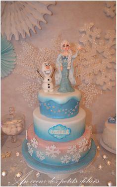 """Wedding cake pour enfant """"La reine des neiges"""""""