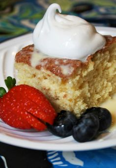 Tres Leches cake. MY FAVORITE CAKE IN THE WORLD.