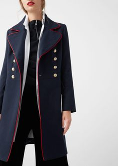 Military style coat - Coats for Women | MANGO USA